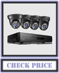 XVIM 8CH 720P Video Security Camera DVR System, 4 HD Cameras