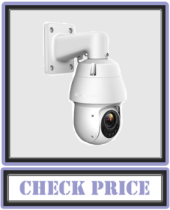 Amcrest 4MP Outdoor PTZ POE + IP Camera UltraHD