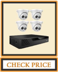 Amcrest 4K Security Camera System w 4K 8CH PoE NVR (4) x 4K (8-Megapixel) IP67 Weatherproof Metal Turret Dome POE IP Cameras (3840x2160) 2.8mm Wide Angle Lens NV4108E-IP8M T2499EW4