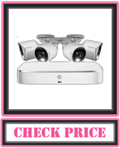 Lorex 4K HD Weatherproof Indoor/Outdoor Security System, 4 x 4K Ultra HD Bullet Cameras