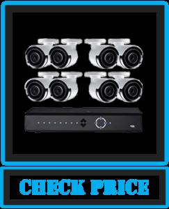 Lorex Weatherproof Indoor/Outdoor Security System 8 x 4K Ultra HD IP Audio Bullet Cameras