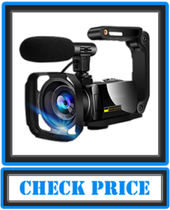 Video Camera Camcorder 4K Digital YouTube Vlogging Camera