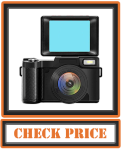 Digital Vlogging Camera with Flip Screen for YouTube